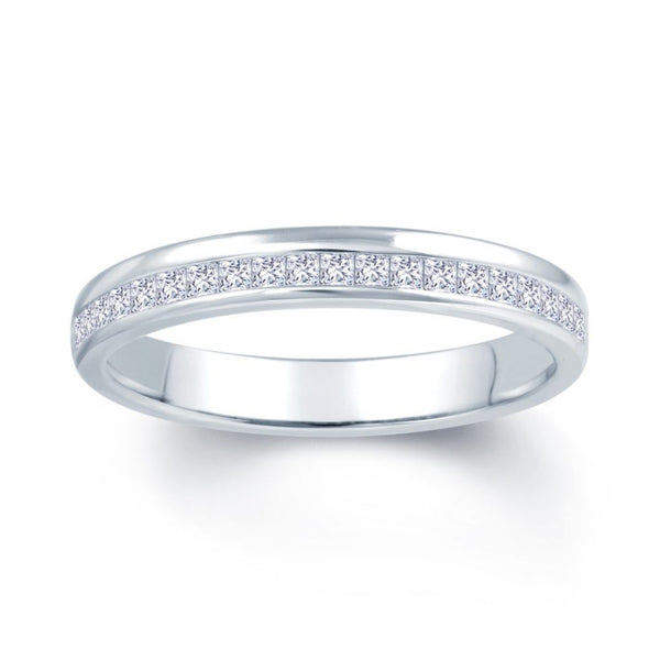 Princess Offset Wedding Band