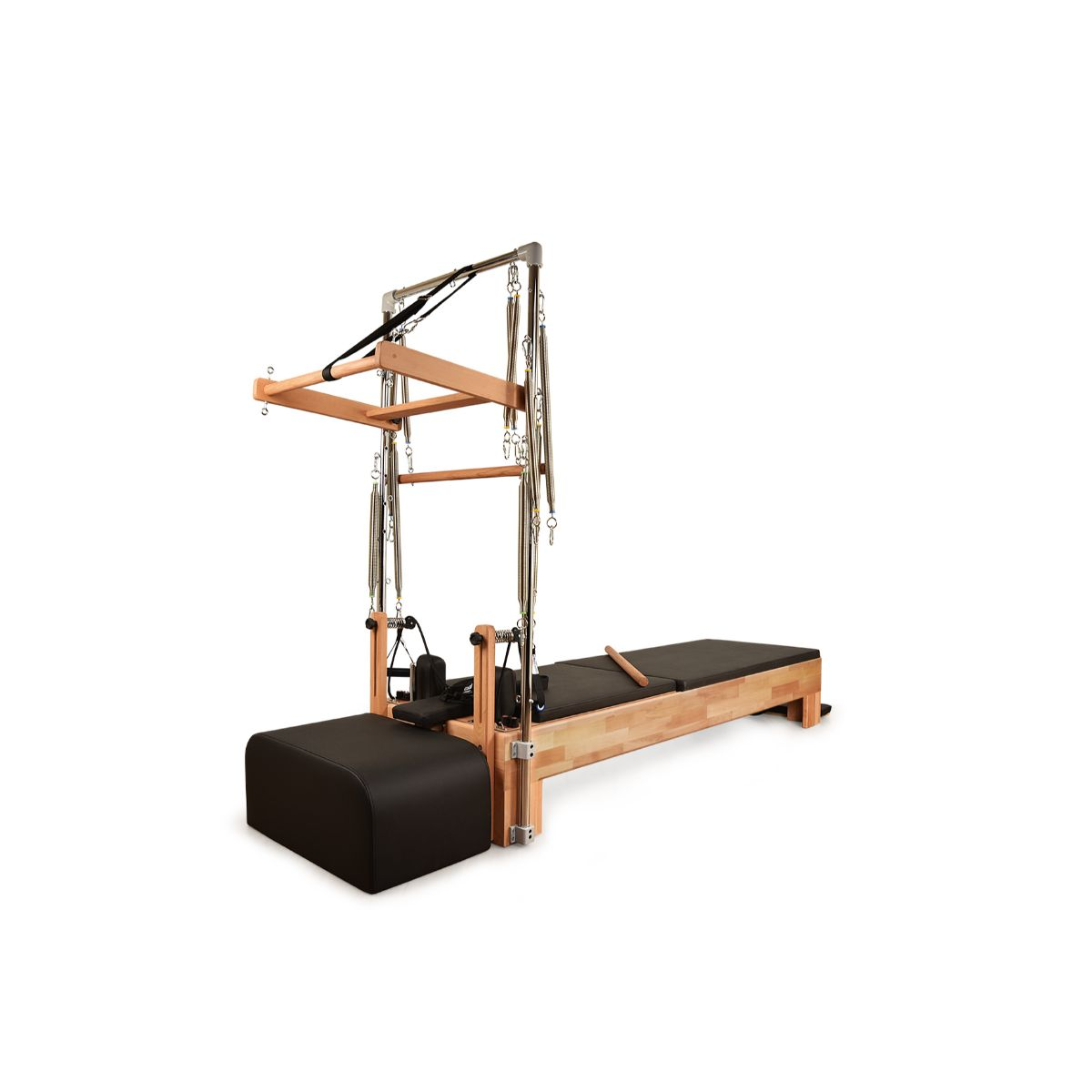 Private Pilates Premium Wood Reformer with Tower - Pilates Reformers Plus