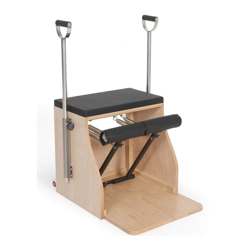 Elina Pilates Wood Combo Chair with Handles - Pilates Reformers Plus