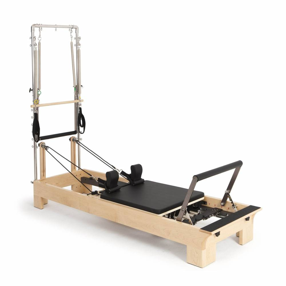 Elina Pilates Wood Reformer with Tower - Pilates Reformers Plus