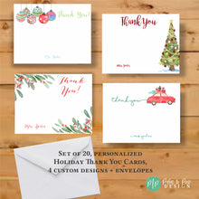 Load image into Gallery viewer, Christmas Thank You Stationery