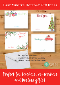 Christmas Thank You Stationery