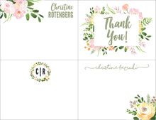 Load image into Gallery viewer, Floral Stationary Set