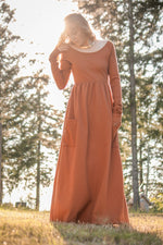 Rustic Dress - with optional neckline