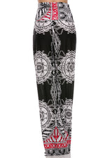 Plus size Palazzo Pants in Black and Red