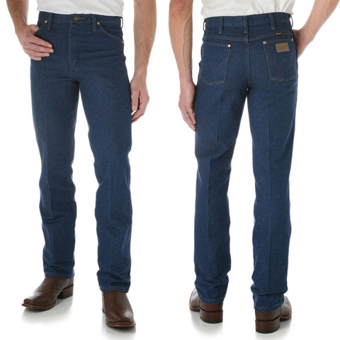 Wild Brumby Saddlery for Geelong, Lara, Werribee. Wrangler Mens Cowboy Cut Slim Fit Jean - Prewashed Indigo Product Code: 0936PWD34  Authentic 5 pocket styling, Fits over boots  100% Cotton Heavyweight Denim, 14.75oz