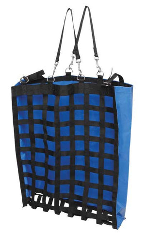 Zilco Slow Feeder Hay Bag, made from waterproof vinyl back and strong polypropylene webbing net