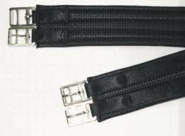 Anti-Gall 2 Buckle Girth with Stainless Steel Roller Buckles, Black or Brown