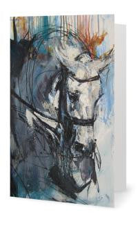 Smart Horse Art Greeting Cards - Various