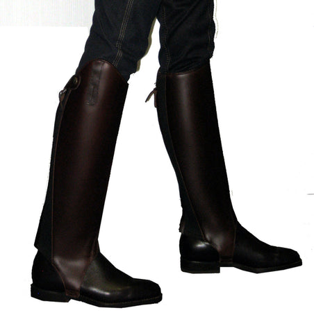 Harold Boot Company Leather Gaiters - Chocolate