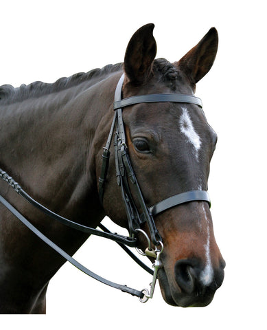 Kincade Flat Cavesson Weymouth Show Bridle - Black or Brown