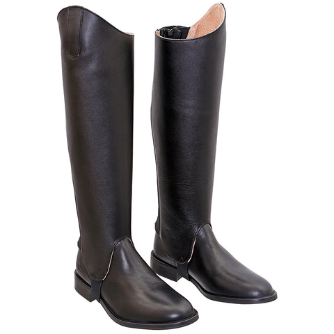 CAVALLINO Black Leather Gaiters Size M