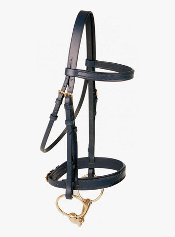 Jeremy & Lord Dressage Bridle with Laced Reins - Brass Buckles