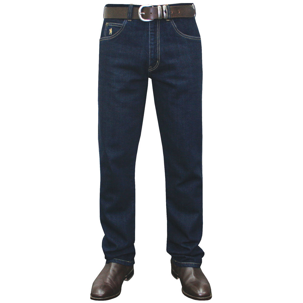 "on Sale. Wild Brumby Saddlery and Country Clothing, Werribee, Geelong, Surf Coast.  Thomas Cook Stretch Jean Straight 32"" Leg  Deep front pockets, twin back belt loops, rustproof logo hardware, double stitched for strength, stretch for comfort  99% Cotton, 1% Elastane Stretch Denim 12oz"