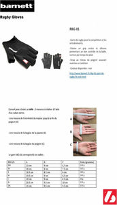 RBG-01 Fingerless American Football Gloves