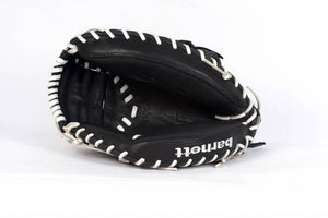 GL-201 Competition catcher baseball glove, genuine leather, adult 31, Black