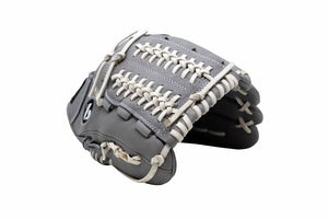 FL-120 high quality, leather baseball glove, infield/outfield / pitcher 12, light grey