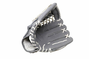 FL-125  high quality leather baseball glove, infield / outfield / pitcher, light grey