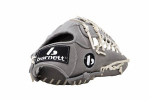 FL-127  high quality leather baseball glove, infield / outfield / pitcher, light grey
