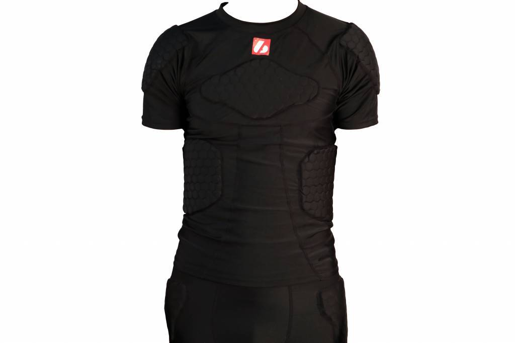 FS-09 compression T-shirt with short sleeves, 4 integrated pieces, for American football