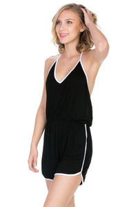 Halter-Neck Wild Open Back Summer Rompers (New Arrival)