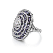 Load image into Gallery viewer, Swirling Diamond Spinel Ring