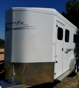 Horse face TRAILER DECAL