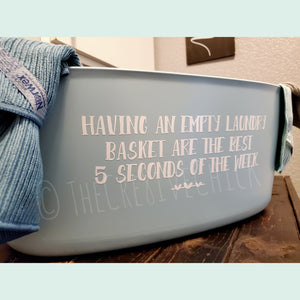 Laundry basket decal