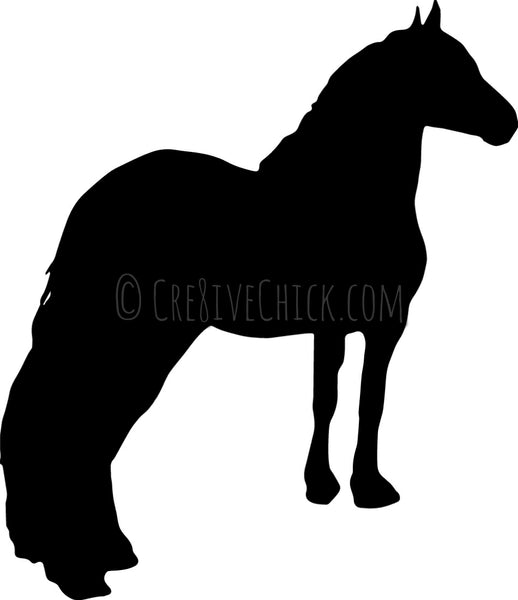Personalized stall sign customized with your horse's silhouette