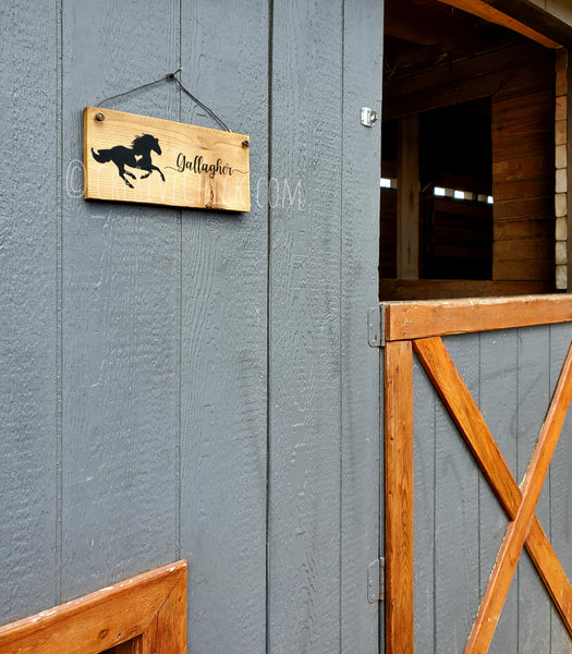 Personalized stall sign Friesian