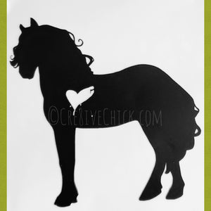 Personalized stall sign Horse with heart