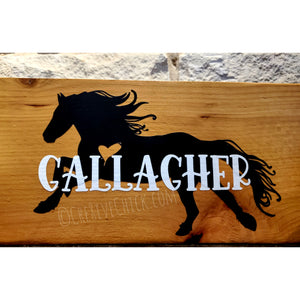 Horse decal personalized with YOUR NAME