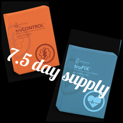 END OF BUSINESS SALE!! 7.5 day supply Trucontrol/Trufix