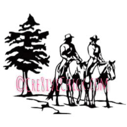 Trail rider horse decal