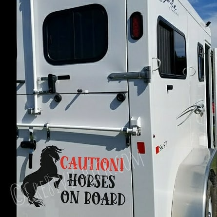Rearing horse TRAILER DECAL