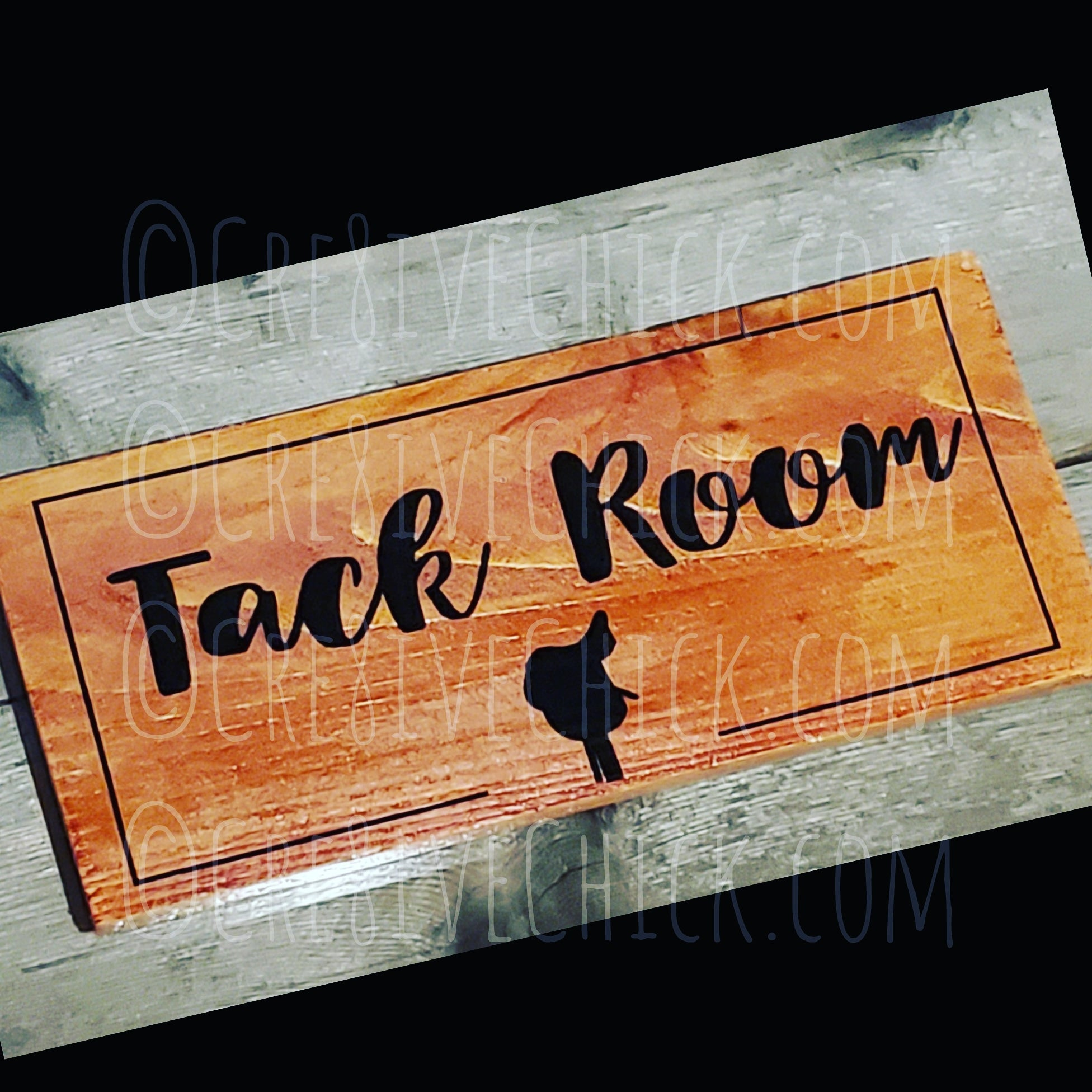 Tack Room wood sign