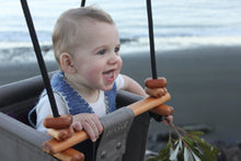 Load image into Gallery viewer, 2in1 kids swings, safe sensory baby swing indoors made from fabric and wood