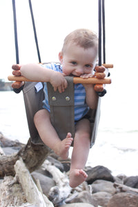 childrens sensory swing, natural baby swing outdoors