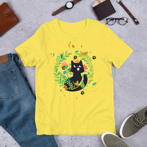 Black Kitten 10 - Short-Sleeve Unisex T-Shirt