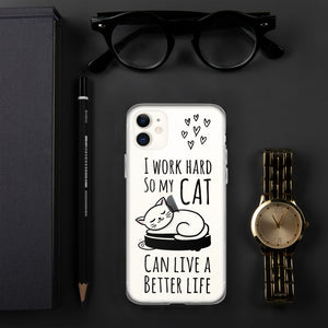 I work hard.. iPhone Case