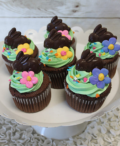 EA-042 Chocolate cupcake with white filling