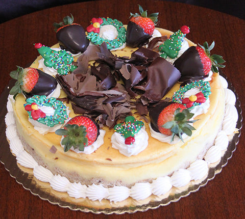 CH-040 Cheesecake Plain with Christmas decor