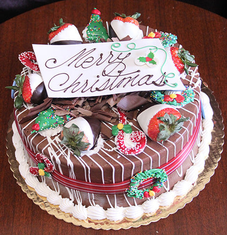 Display Chocolate Cake with Oreo Mousse Christmas Decor
