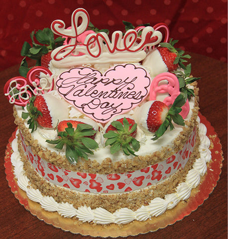 VC-011 Display Carrot cake with valentines decor