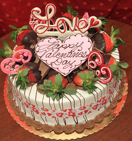 VC-016 Display Strawberry Grand Marnier cake with valentines decor