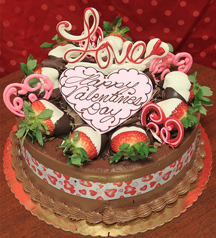 VC-017 Display Tiramisu cake with valentines decor