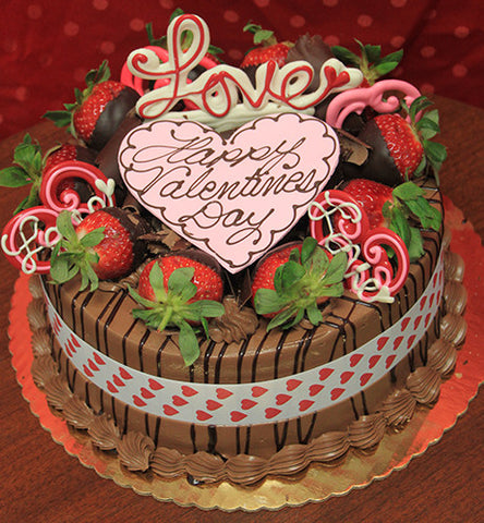 VC-012 Display Chocolate Mousse cake with valentines decor