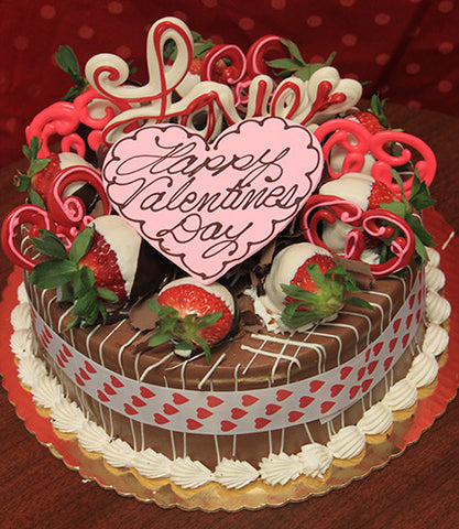 VC-013 Display Chocolate oreo cake with valentines decor