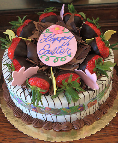 EA-003 Display Strawberry Grand Marnier cake with Easter Decor
