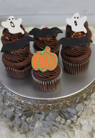 CC-053 Mini Halloween cupcakes Chocolate with white mousse filling